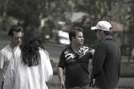 (Director & Star) Gregory Pakis, (Producer) Julian Costanzo and  (1st Assistant Director) Stephen De Villiers  PICTURE : Michael Oulton